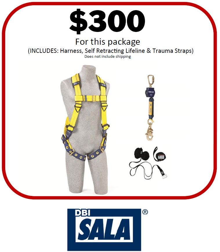 fall protection harness package
