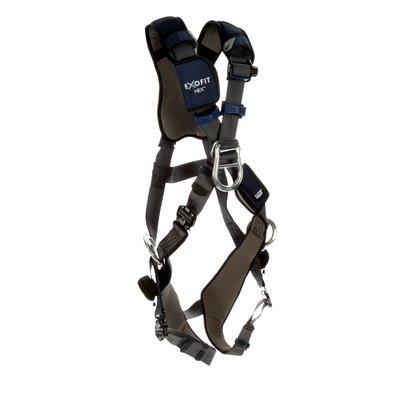 3M™ DBI-SALA® ExoFit NEX™ Plus Comfort Cross-Over Style  Positioning/Climbing Harness 1140199, Small, Gray, 1 EA
